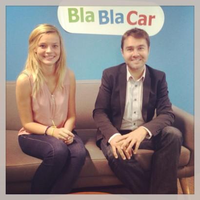 Shana Smeet en Frédéric Mazzella van BlaBlaCar